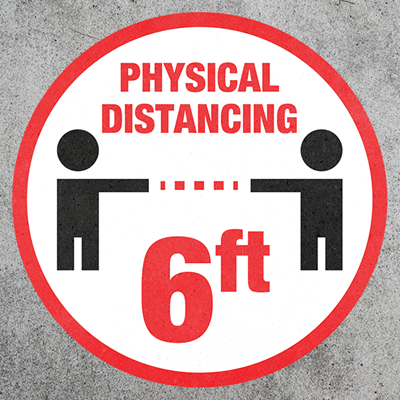 Outdoor Physical Distancing 6ft